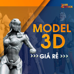 model 3d gia re - Zan Stock