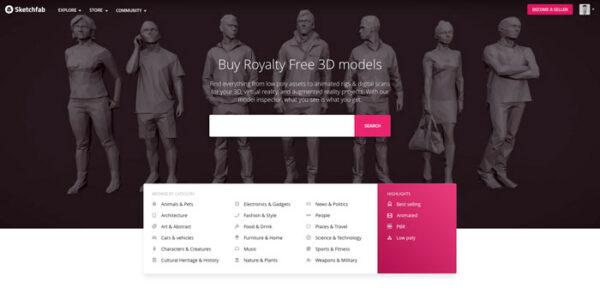 Mua Model 3D Sketchfab Giá Rẻ Uy Tín Chất Lượng Nhất